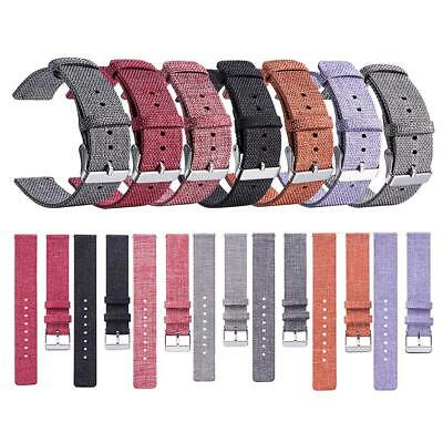 20MM Universal Nylon Canvas Replacement Watch Band Wrist Straps Stainless Buckle