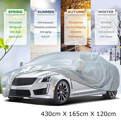 Waterproof 2 Layer Heavy Duty Car Cover Cotton Lining Scratch Proof Medium Size