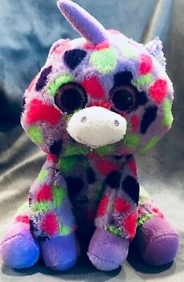 Plush Ty Stuffed Unicorn Pink purple Colors Adorable Toy Beanie Baby 6
