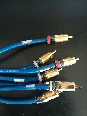 Qty 2 - 6' ft RCA Gold-Plated Male to Male DJ/Mixer/Stereo System Audio Cable
