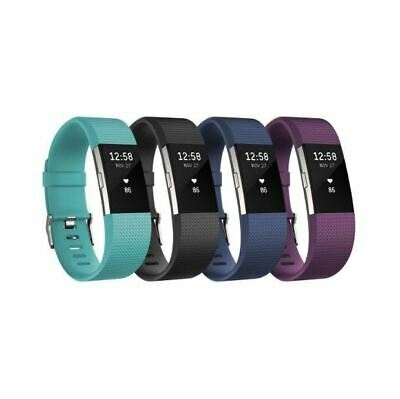 Fitbit Charge 2 Fitness Activity Tracker + Heart Rate FB407 SEE PHOTOS USED FAIR