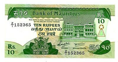 Mauritius ... P-35b ... 10 Rupees ... ND(1985) ... CH*AU-UNC* Replacement Z/1.