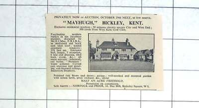 1936 Mayhugh, Bickley, Kent For Sale On Half An Acre