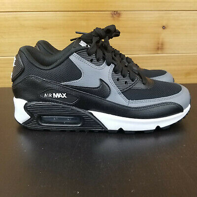 premium selection 467f6 79f92 Nike Air Max 90 Black Black-Cool Grey White 325213-037 Womens