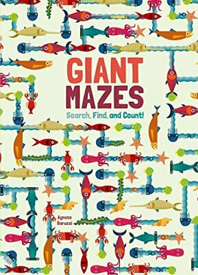 Giant Mazes: Search, Find, and Count!