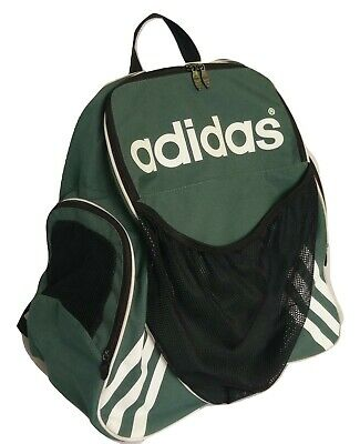 Adidas Stripes Sports Backpack Large Capacity Soccer Basketball Athletic  Green 5edaf0767fbea
