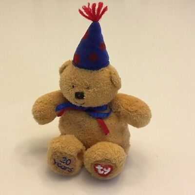 TY LAUGHTER the BEAR BEANIE BABY - 20TH ANNIVERSARY - No Hang Tag 4f04a3f73881
