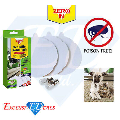 Zero In Flea Killer Refill Pack - Contains 3 Refill Discs + 2 Spare Lamps