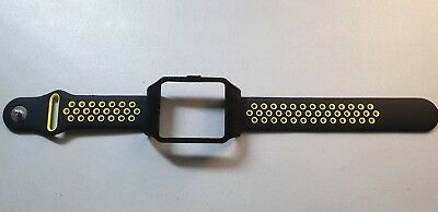 Sony SmartWatch 3 SWR50 Black Housing (Adapter) & LIME Dots Silicone Strap