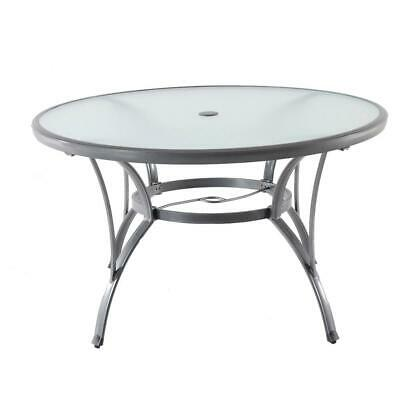 Excellent Hampton Bay Outdoor Dining Table Commercial Grade Grey Round Alphanode Cool Chair Designs And Ideas Alphanodeonline