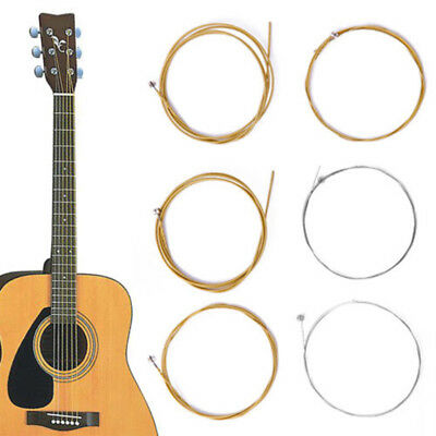 BL_ JN_ 6Pcs/1Set Bronze Steel Strings Warm Balanced Tone for Acoustic Guitar 15