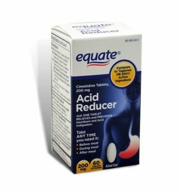 Equate Acid Reducer Cimetidine 200 mg 60 Total Tablets FREE SHIPPING WORLDWIDE