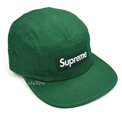 9bee9d9caf9 NWT Supreme NY Dark Green Box Logo Heat Reactive Camp Cap Hat SS18 DS  AUTHENTIC