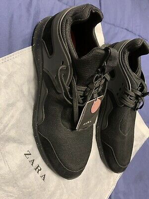 e4288cc1737 ZARA MEN S TECHNICAL Black Athletic Sneakers
