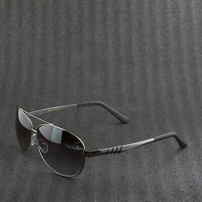 6856957d7a3 Mens Luxury Driving Aviator Sunglasses Full Strength Metal Frames Rubber  Tips