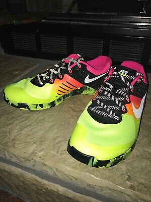 6696d149fe513c Nike Metcon 2 Multi Color Volt Crossfit Running Trainer 819899-701 Size 13  Shoes