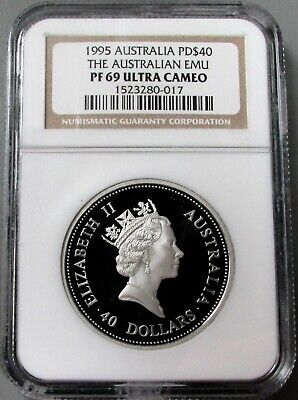 1995 PALLADIUM AUSTRALIA 1oz EMU $40 COIN NGC PROOF 69 UC ONLY 2,500 MINTED