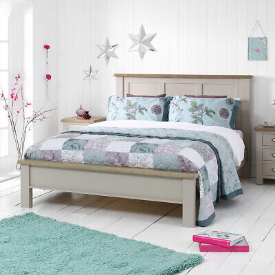 Chester Grey Painted Chunky 5ft King Size Bed - Bedroom Furniture  GS45