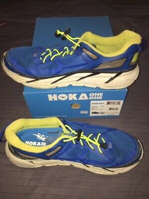 reputable site 9b3bc 03c1a HOKA ONE ONE CLIFTON 1 Men's Blue/Lime Men's 13 US/48 EU Running shoes
