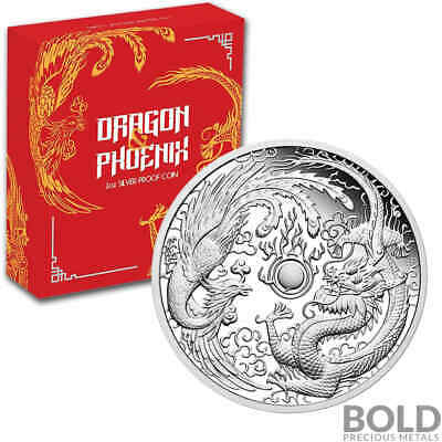 2018 Silver 1 oz Australia Perth Dragon & Phoenix Proof