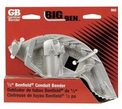"Big Ben Hand Bender 3.69 "" Bending Radius 1/2"" GB Gardner Bender New In Box"