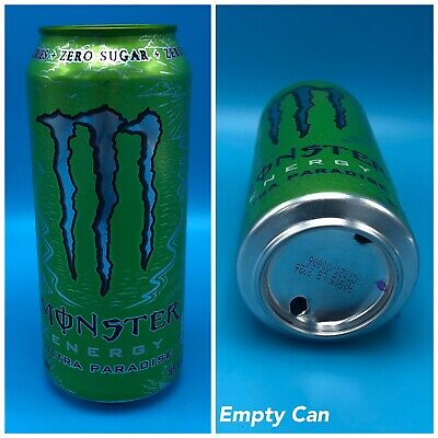 Monster Energy Ultra Paradise - Open EMPTY 16oz NEW RELEASE Green Top