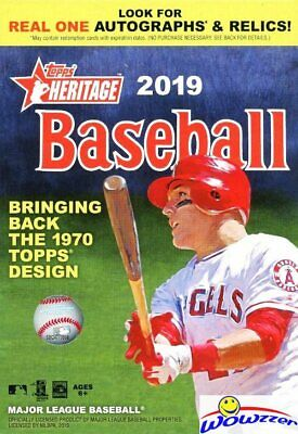 2019 Topps Heritage Baseball EXCLUSIVE Factory Sealed HANGER Box-Loaded!