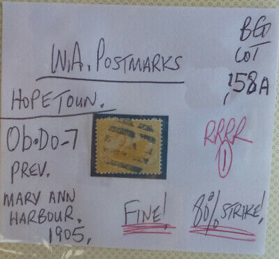 Old West Australia Postmark On Swan Stamp Hopetoun 1905
