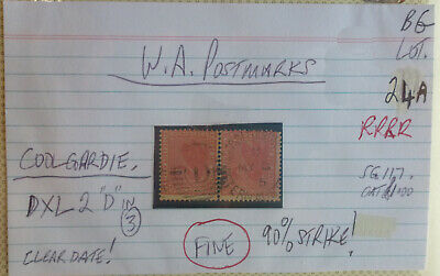 Old West Australia Postmark On Swan Stamp Coolgardie D