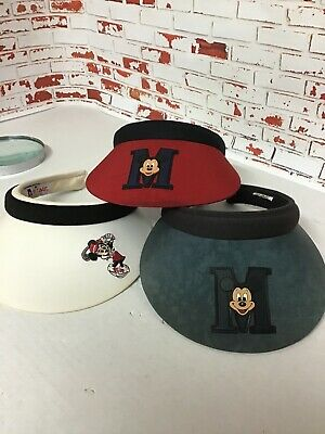 fa1483518e9fd5 Lot of 3 Disney Character Golf Sun Visor Men &Ladies Embroidered Mickey &  Minnie