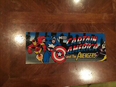 Captain America and the Avengers video arcade machine marquee, Data East 1991