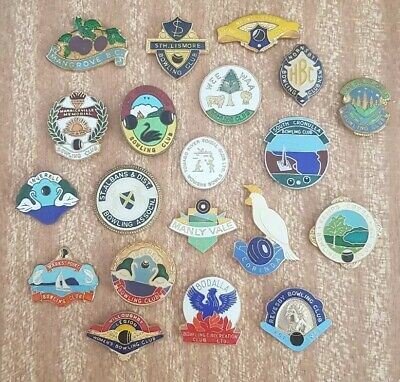 20x Bowls Badges **CLASPS REMOVED **