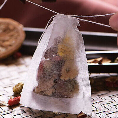 Cool new AU stock 100x Reusable Tea Filter Bags Disposable Drawstring Paper Bag