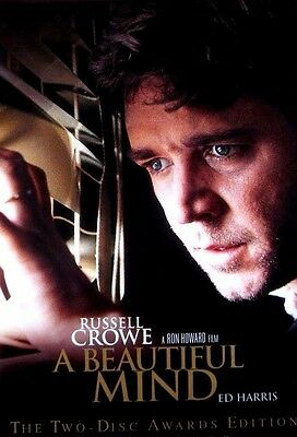 A Beautiful Mind (DVD 2002 2-Disc Awards Edition FS) Crowe Harris *Free Shipping