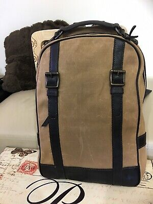 Fossil Unisex Leather & Fabric Backpack RRP $158