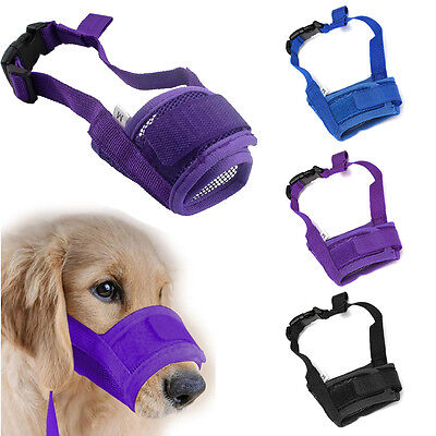 Dog Muzzle Anti Stop Bite Barking Chewing Mesh Mask Training Small Large S-XL US