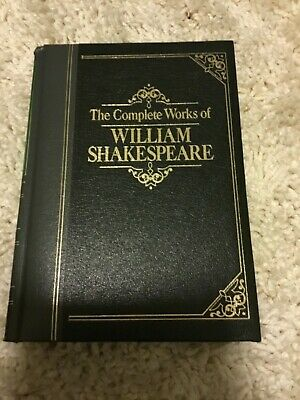 Amaranth Press- The Complete Works of William Shakespeare- leather bound-EUC