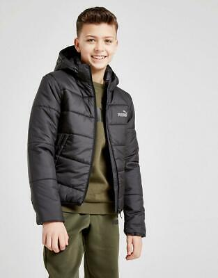 New Puma Boy's Padded Jacket Black