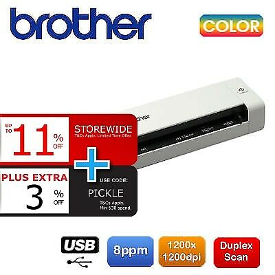 Brother DS-720D Portable A4 Document Mobile Color Scanner+Duplexer *RFB*