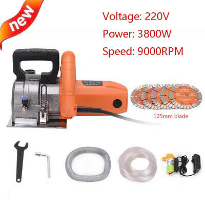 220V Electric Wall Chaser Groove Cutting Machine slotting machine 9000RPM 125MM