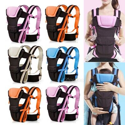 Newborn Infant Baby Carrier Comfort Breathable Backpack Buckle Sling Cotton Wrap