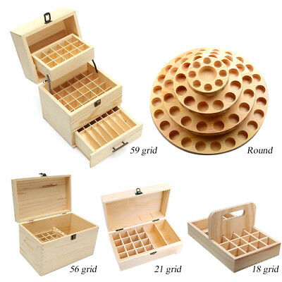 15-85 Slots Oil Aroma Storage Wooden Case Box Essential Organizer Container Bag
