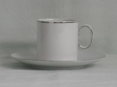 THOMAS ~ FINE PLATINUM BAND ~  2 x COFFEE CUPS & SAUCERS + 2 SPARE SAUCERS