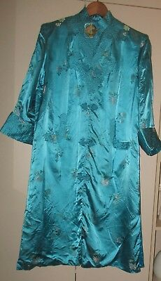 Vintage Chinese Brocade Coat Size L  Good Condition