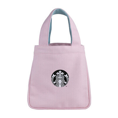 Limited Taiwan Starbucks 2019 Pinky Spring Siren Bag For Takeaway/ Lunch Box New