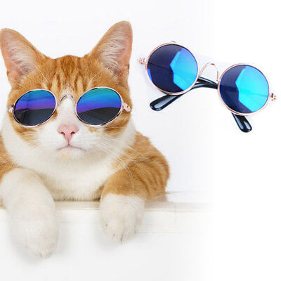 Dog Cat Pet Round Glasses For Pet Eye-wear Puppy Sunglasses Photo Props Toys