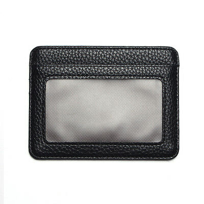 Mens PU Leather Wallet Front Pocket RFID Blocking Slim Mini Cards Holder Bag