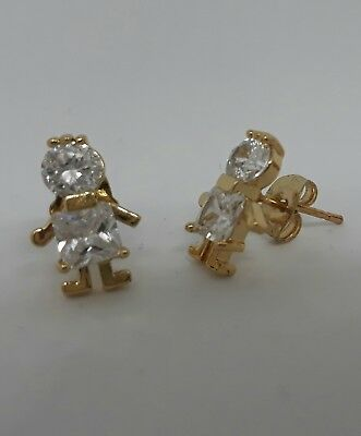 Earring Crystal Girl Women Boy Men Gold Color Gift Jewelry Fashion FREE SHIPPING