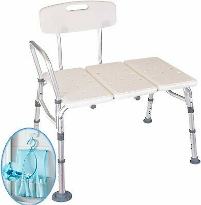Medokare Handicap Elderly Non Slip Adjustable Bath Shower Transfer Bench Seat