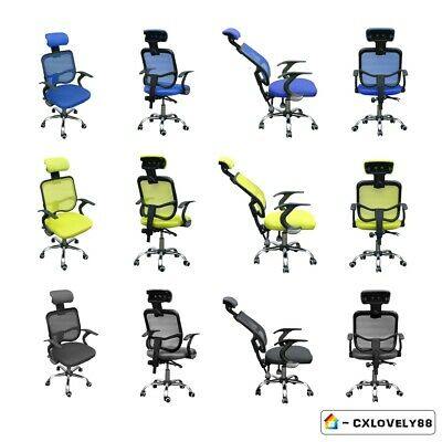 Home Office Racing Gaming Chair Height Back Recline Adjustable Swivel For Gifts